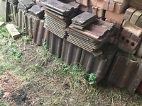 Redland concrete interlock roof tiles. Old and ends. Large quantity. £80