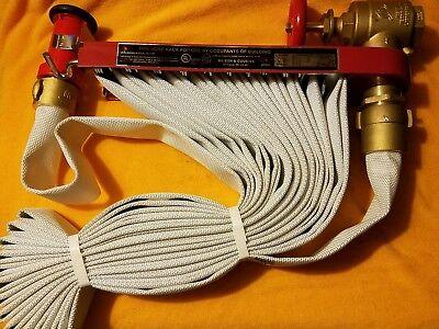 Moon American 142-0505 Fire Hose Pin Rack Unit Plastic Nozzle 50 Hose