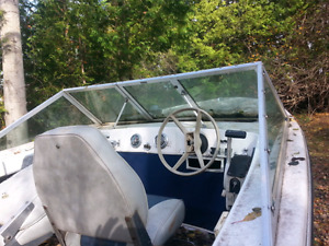 16 foot Northcraft with Trailer 70hp Johnson tilt and trim