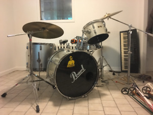 Pearl Drum Kit with Spare Cymbals
