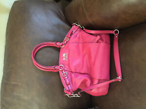 All leather coach purse