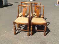 4x oak chairs