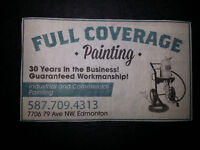 FULL COVERAGE PAINTING: RESIDENTIAL, INDUSTRIAL AND COMMERCIAL