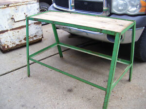 Metal work table.