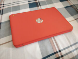 """Red 14"""" HP Chromebook - Mint Condition"""