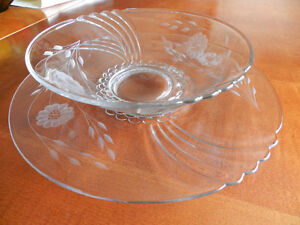 Vintage Hughes Corn Flower Bowl and Hostess Plate