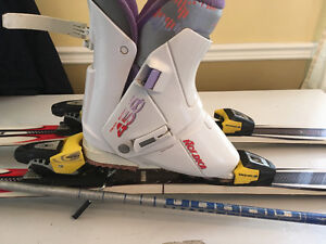 Women's Skis, boots(ladies 8) bindings and poles