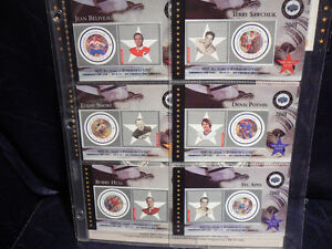 6 NHL HOCKEY STAMP COLLECTION