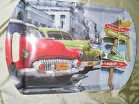 serving TRAY with vintage CARS