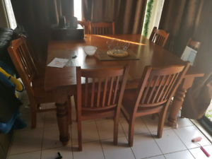 8 seater table and chairs