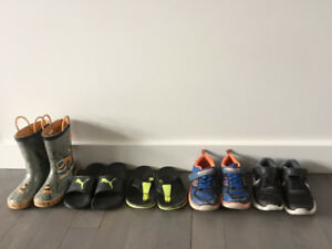 SIZE 12 toddler - youth boy - shoes rubber boots sandals runners