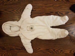 Snowsuit girls 0-6 months