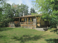 Unique lakefront cabin for sale at Laurier Lake