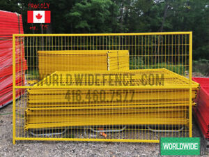 Temporary Fence Panels 6x10 6x8 welded wire fast fencing events
