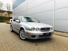 2009 58 reg Jaguar X TYPE 2.2D auto SILVER + CREAM LEATHER + NICE SPEC