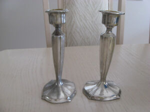 Candlestick Holders - Silver Plated, Brass and  24% Lead Crystal