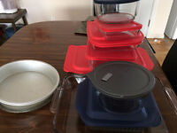 Pyrex bake ware and storage containers