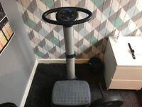Vibration training exercise machine