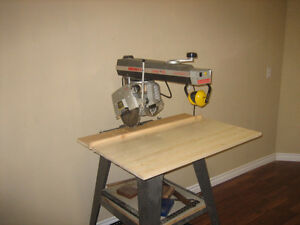 Dewaly/B.D. Radial Arm Saw, Stand and Dolley