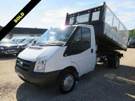 2010 10 FORD TRANSIT 2.4 TDCI 350 TIPPER 115 BHP WITH REMOVABLE CAGE SIDES DIESE
