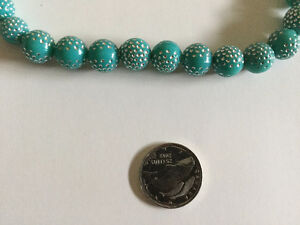 Sparkly Teal Beads Necklace