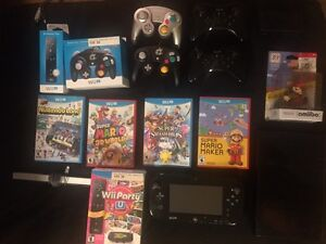 Wii U + 5 Games + Gamecube adapter & more