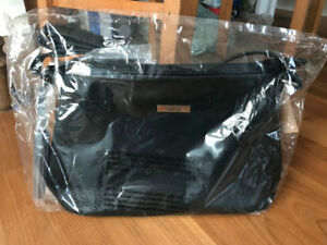 $200 black leather ROOTS handbag for $85!! BRAND NEW WITH TAGS