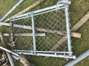 Chain link fencing and posts