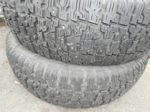 2 tires good for winter 205/70/14 radial roadHandler good for m