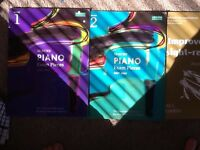 Grade 1 - grade 5 piano books, over 50 pieces of music
