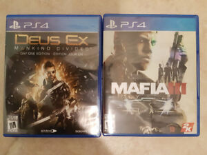 Brand new PS4 Deus Ex and Mafia 3 games for only $15 each