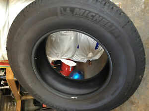 "Virtually new set ""take off"" truck tires"