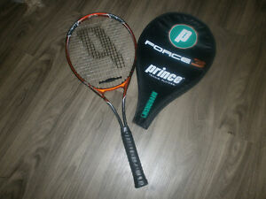 Prince tennis raquet and cover