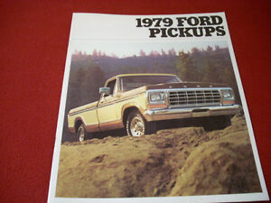 1979 Ford Pickups sales brochure