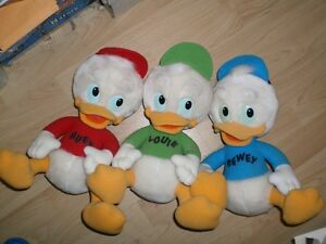 DUCK TALES stuffed Huey, Duey and Louie Ducks