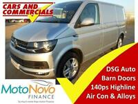 2015 65 VOLKSWAGEN TRANSPORTER T6 T30 SWB HIGHLINE 140PS DSG AUTOMATIC (BARN DOO
