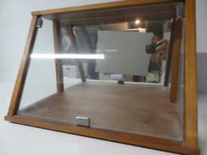 Glass table top cabinet