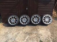 "Bmw Alloys Mv2 5x120 alloy wheels fit vw t5 225 40 18"" tyre size"