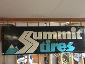 Summit Tires Tin Sign - Nice