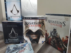 Lot of Assassin's Creed rare collector's editions (CIB like new)