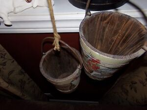 Wooden Pulley and Wooden Buckets Great Rustic Decor! Belleville Belleville Area image 2