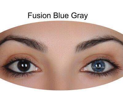 Blaue graue farbige Kontaktlinsen ohne Stärke natürlich stark deckend Gray Blue
