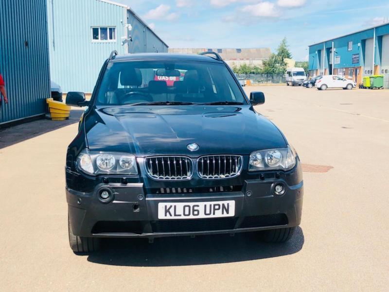 BMW X3 3.0D SPORT AUTO 2006(06)REG**AIR CON*METALLIC BLACK*PANORAMIC ...