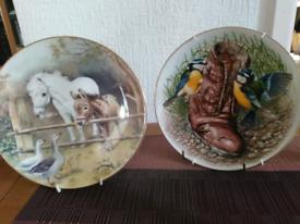 Fine china decorative wall plates.