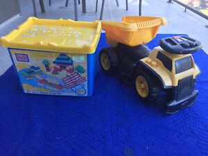 Tonka dump truck with legos