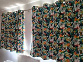 Dunelm Children's Jungle Safari Curtains