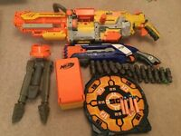 Nerf bundle- nerf 'havoc' + rough cut elite guns with bullets and target