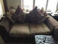 x2 two seater sofa in brown