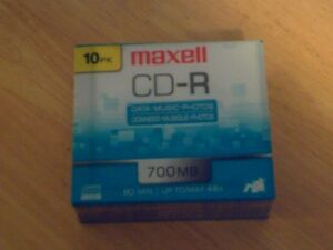 package deal maxell cd r 10 pack 700mb (10pks)