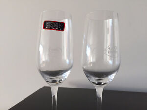 Set of 2 crystal Riedel tequila cocktail glasses
